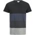Jack & Jones Men's Core Dylan Block Stripe T-Shirt - Black: Image 1