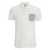 Jack & Jones Men's Originals Extra Stripe Pocket Polo Shirt - White/Navy: Image 1