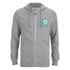 Jack & Jones Men's Originals Batch Sweat Zip Through Hoody - Light Grey Marl: Image 1