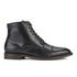 H Shoes by Hudson Men's Seymour Leather Toe Cap Lace Up Boots - Black: Image 1