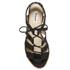 Dune Women's Ivanna Nubuck Strappy Heeled Sandals - Black: Image 3