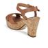 Dune Women's Iyla Leather Platform Heeled Sandals - Tan: Image 4