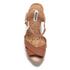 Dune Women's Iyla Leather Platform Heeled Sandals - Tan: Image 3