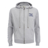 Soul Cal Men's Sleeve Print Logo Zip Through Hoody - Grey Marl: Image 1