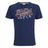 Soul Cal Men's Cracked Print T-Shirt - Navy: Image 1