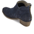 H Shoes by Hudson Women's Apisi Suede Heeled Ankle Boots - Navy: Image 4