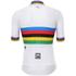 Santini UCI World Road Champion Short Sleeve Jersey - White: Image 3