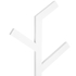 Wireworks Gloss White Towel Rail Branch: Image 3