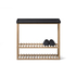 Wireworks Hello Storage Console Table - Black: Image 5