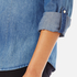 ONLY Women's Denim Shirt - Medium Blue Denim: Image 5