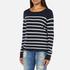 ONLY Women's Mila Stripe Long Sleeve Top - Night Sky: Image 2