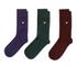 Lyle & Scott Men's 3 Pack Socks - Purple/Green/Burgundy: Image 1