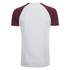 Brave Soul Men's Baptist Raglan Sleeve T-Shirt - Ecru/Burgundy: Image 2