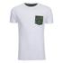 Brave Soul Men's Pulp Camo Pocket T-Shirt - White: Image 1