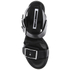 McQ Alexander McQueen Women's Shackwell Strap Heeled Sandal - Black: Image 3
