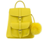 Grafea Women's Sunny Fur Pom Backpack - Yellow: Image 1