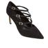 Dune Women's Carbon T Bar Suede Court Shoes - Black: Image 2