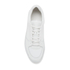 ETQ. Men's Low Top 3 Leather Trainers - White: Image 3