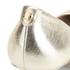 MICHAEL MICHAEL KORS Women's MK Flex Leather Court Shoes - Pale Gold: Image 5