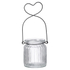 Parlane Glass Heart Hanging Tealight Holder - Clear (14cm): Image 1