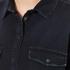 MSGM Women's Logo Back Oversized Denim Shirt - Black: Image 5