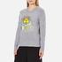 KENZO Women's Flower Logo Knitted Jumper - Light Grey: Image 2