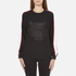 KENZO Women's Contrast Side Stripe Tiger Sweatshirt - Black: Image 1