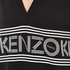KENZO Women's Stripe Logo Mid Cotton Dress - Black: Image 4