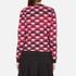 KENZO Women's All Over Print Nagai Tanami Flower Logo Sweatshirt - Red: Image 3