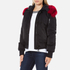 KENZO Women's Removable Red Fur Lined Short Parka - Black: Image 2