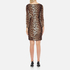 Boutique Moschino Women's Zip Pleat Dress - Leopard: Image 3