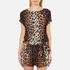 Boutique Moschino Women's Tie Waist Playsuit - Leopard: Image 1