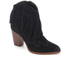 Sam Edelman Women's Benjie Leather Tassle Heeled Ankle Boots - Black: Image 2