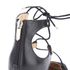 Sam Edelman Women's Taylor Leather/Suede Lace Up Court Shoes - Black: Image 5