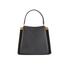 Lulu Guinness Women's Collette Small Leather and Suede Grab Bag  - Black: Image 6