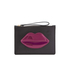Lulu Guinness Women's Grace Medium Lips Clutch - Black/Casis: Image 1