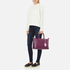 Lulu Guinness Women's Frances Medium Tote Bag with Lip Charm - Cassis: Image 2
