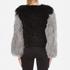 Charlotte Simone Women's Classic Fuzz Jacket - Black/Charcoal Grey - S/M: Image 3