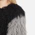 Charlotte Simone Women's Classic Fuzz Jacket - Black/Charcoal Grey - S/M: Image 6
