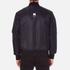 MSGM Men's Bomber Jacket with Reflective Strip - Black: Image 3