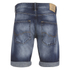 Jack & Jones Men's Rick Original Distressed Denim Shorts - Mid Wash: Image 2