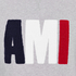 AMI Men's AMI Logo Crew Neck Sweatshirt - Heather Grey: Image 6