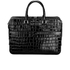 Aspinal of London Women's Small Mount Street Tech Bag - Black Croc: Image 1
