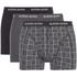 Bjorn Borg Men's 3 Pack Check Detail Boxer Shorts - Black: Image 1