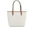 MICHAEL MICHAEL KORS Large Top Zip Pocket Tote Bag - Cream: Image 6