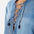 Maison Scotch Women's Drapey Woven Top - Blue: Image 5