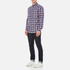 GANT Men's Dobby Plaid Shirt - Yale Blue: Image 4