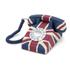 GPO Retro Vintage British Union Jack Art Deco Rotary Push Button Telephone: Image 1
