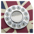 GPO Retro Vintage British Union Jack Art Deco Rotary Push Button Telephone: Image 2