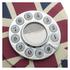 GPO Retro Vintage British Union Jack Art Deco Rotary Push Button Telephone: Image 2